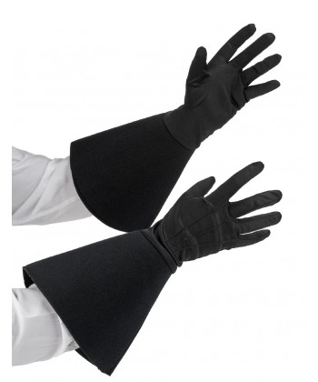 Gants simili noir