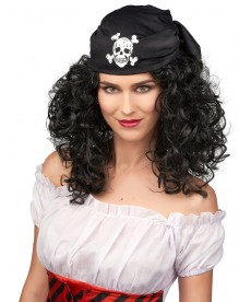 Perruque femme pirate chatain