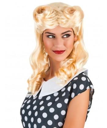 Perruque années 30/40 blonde