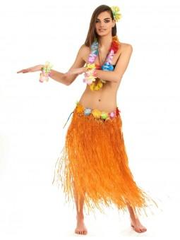 jupe hawai orange longue