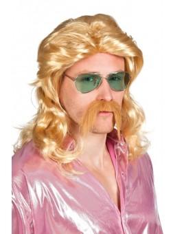 Perruque + moustache seventies