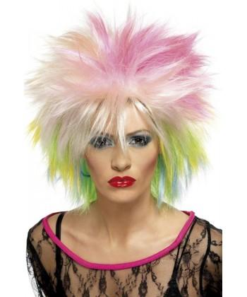 Perruque Années 80 punk femme