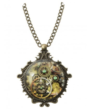 Collier steampunk médiéval