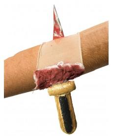 manchon couteau ensanglanté