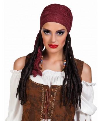 Perruque de pirate femme
