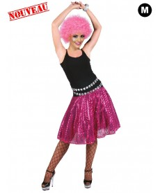 jupe disco rose