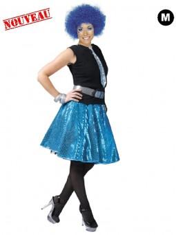 Jupe disco bleu