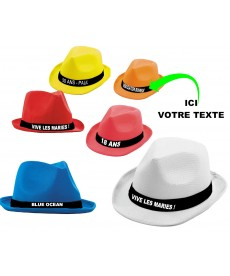 Borsalino chapeau personnalisé
