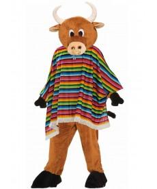 mascotte de taureau déguisé