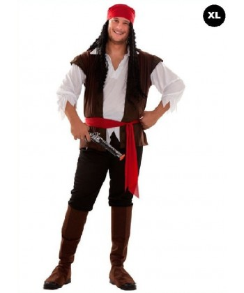 Déguisement pirate des Caraïbes (XL)