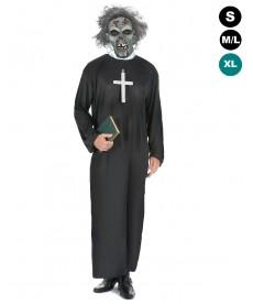 déguisement halloween curé zombie