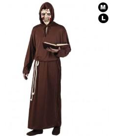 déguisement zombie halloween moine