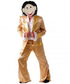 Mascotte de chanteur disco