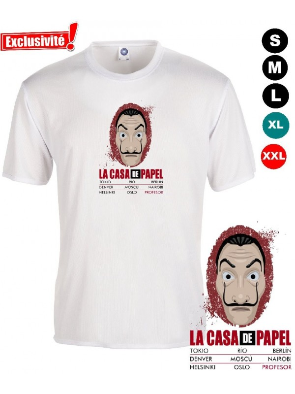 tee shirt casa de papel