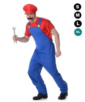 Déguisement de Mario bros, le plombier
