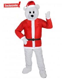 mascotte ours blanc père noel