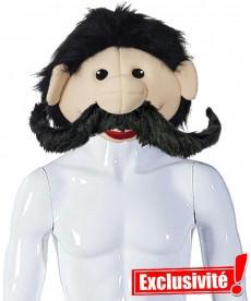 tête de mascotte à moustache