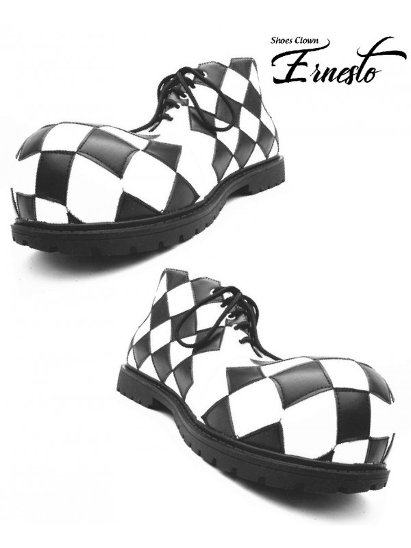 chaussures de clown en cuir