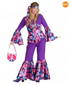 déguisement hippie femme très grande taille XXXL
