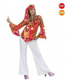 Déguisement femme hippie très grande taille