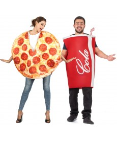 Déguisement couple Pizza Coca cola