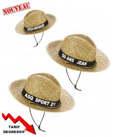 Chapeau cowboy personnalisé