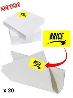 20 serviettes de table Brice de Nice