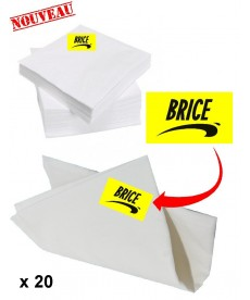 20 serviettes de table Brice de Nice
