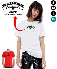Tshirt wonder woman humoristique