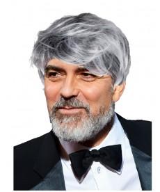 perruque george clooney