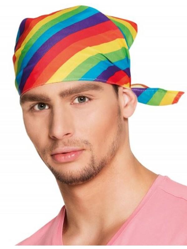 bandana multicolore gay pride