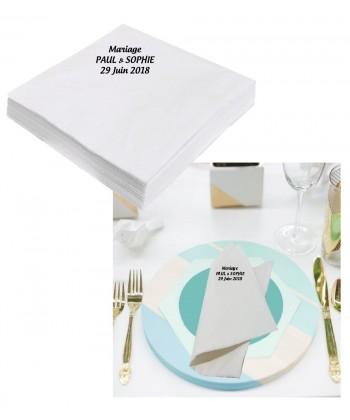 serviettes de table personnalisée imrpimée