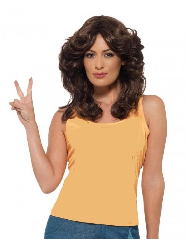Perruque disco femme