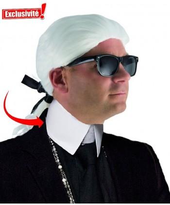 Col Karl lagerfeld déguisement
