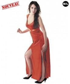 Déguisement Dalida velours rouge