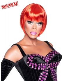Perruque Drag queen rouge