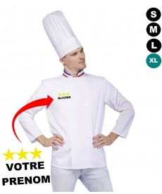 Veste de cuisinier personnalisée