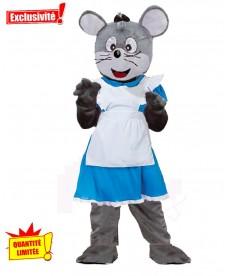 Mascotte déguisée souris