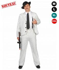 Déguisement Al Capone blanc