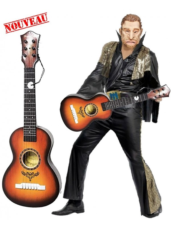 Guitare déguisement johnny hallyday