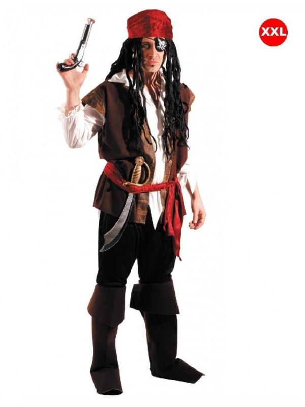 Déguisement pirate des Caraïbes (XXL)