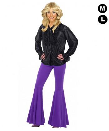 Chemise disco femme noire