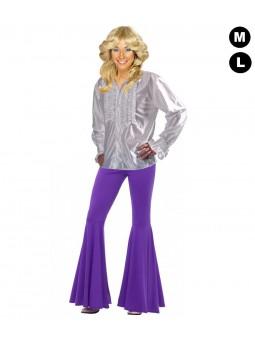 Chemise disco femme blanche