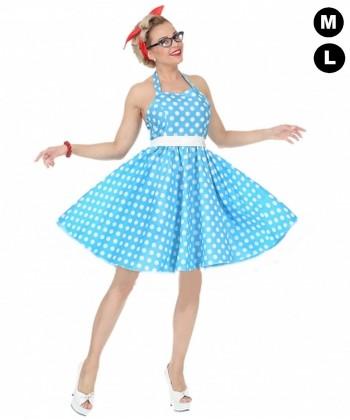 Déguisement femme années 50 bleue