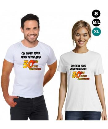 T-shirt anniversaire 20ans (fille)
