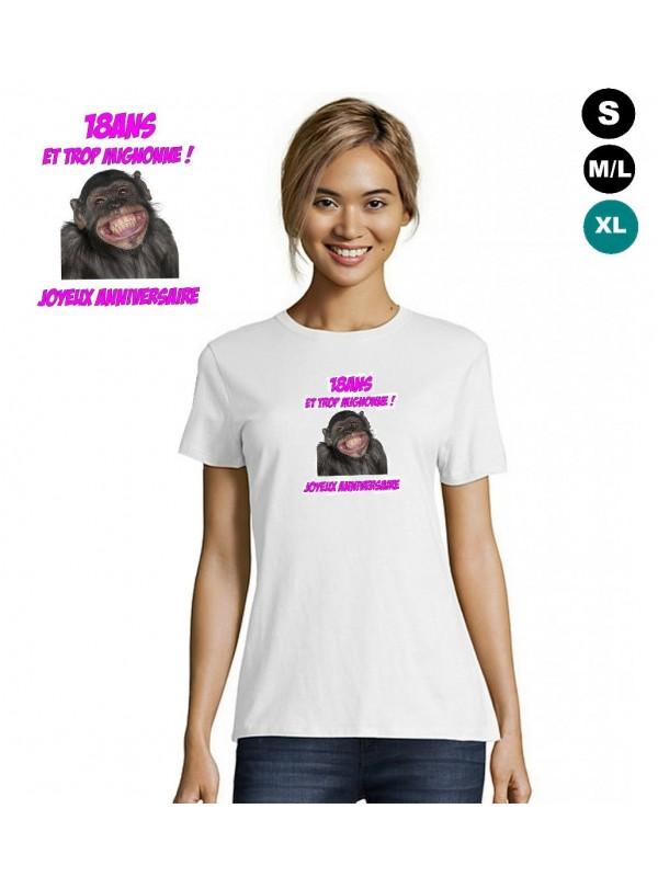 T-shirt anniversaire 18ans (fille)