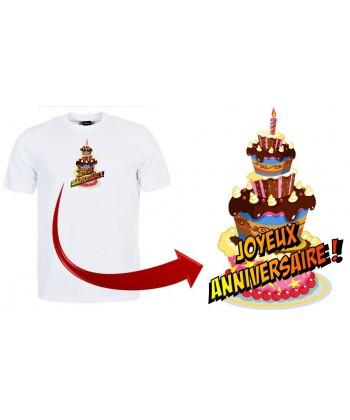 """T-shirt """"Gâteau anniversaire"""""""