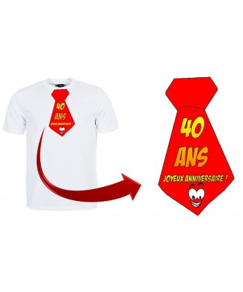 """T-shirt anniversaire """"Cravate 40 ans"""""""