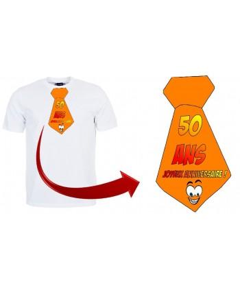 """T-shirt anniversaire """"Cravate 50 ans"""""""