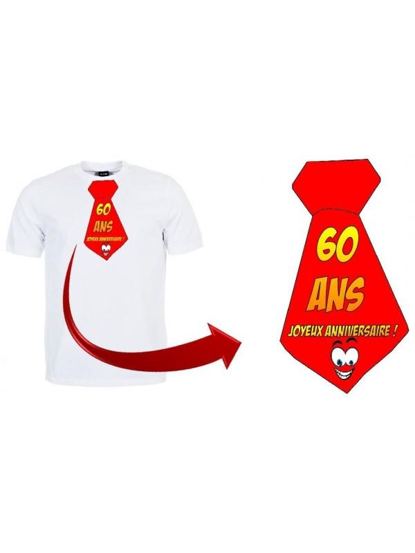 """T-shirt anniversaire """"Cravate 60 ans"""""""